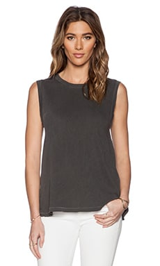 The Great The Sleeveless Crew in Washed Black