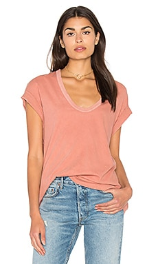 The U Neck Tee in Vintage Coral