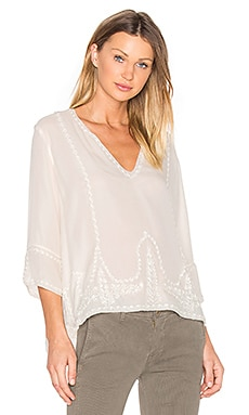 The Folk Top in Cream
