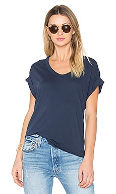 The U Neck Tee in Navy