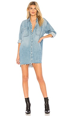 Shaun Oversized Shirt Dress GRLFRND $198 BEST SELLER