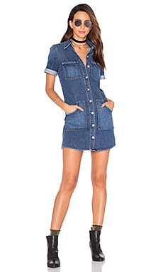 GRLFRND Miranda Denim Dress in Call Me