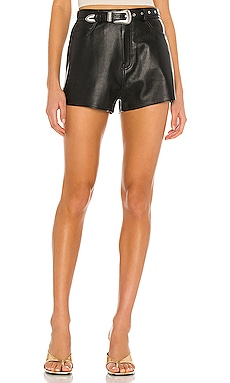 Westley Leather Shorts GRLFRND $218 Collections