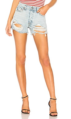 Helena High-Rise Straight Leg Cut Off Short GRLFRND $148