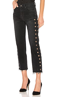 Купить Укороченные прямые джинсы с высокой посадкой helena - GRLFRND, США