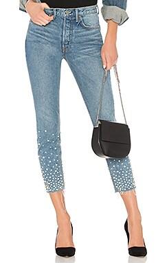 Karolina Embellished High-Rise Skinny Jean