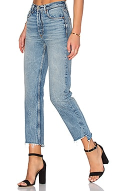 x REVOLVE Helena High-Rise Straight Jean en My Sharona