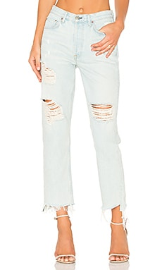 x REVOLVE Helena High-Rise Straight Leg Jean in Let It Be