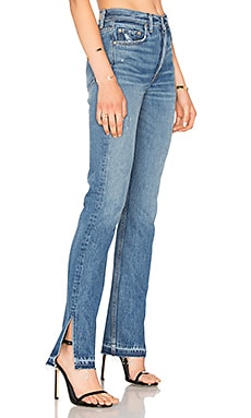 x REVOLVE Natalia High-Rise Skinny Split Jean in The Letter