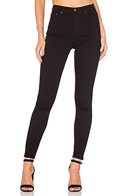 Kendall Super Stretch High-Rise Skinny Jean en Black Magic Woman