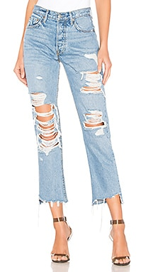 Helena High-Rise Straight Crop Jean GRLFRND $162