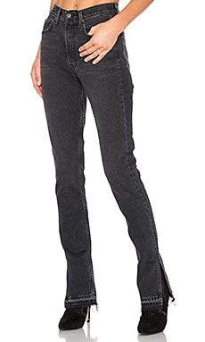Natalia High-Rise Skinny Split Jean in Hot Stuff
