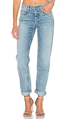 Helena High-Rise Straight Jean GRLFRND $210