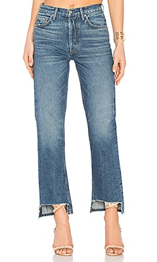 Helena High-Rise Straight Jean in Bittersweet