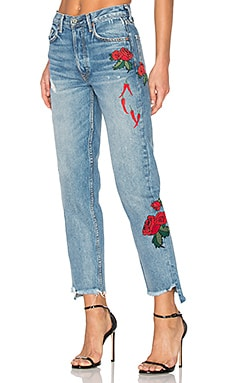 x REVOLVE Helena High-Rise Straight Jean en Day After Day