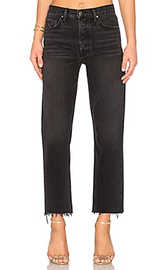 Helena High-Rise Straight Crop Jean GRLFRND $137