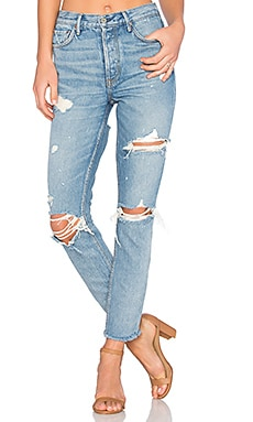 Karolina High-Rise Skinny Jean with Butt Slit GRLFRND $248