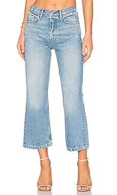 Linda High-Rise Pop Crop Jean in American Woman