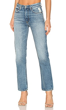 x REVOLVE Helena High-Rise Straight Jean in Ain't No Sunshine