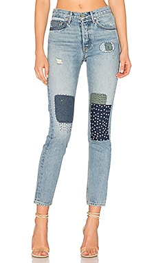 x REVOLVE Karolina High-Rise Skinny Jean in One Bad Apple