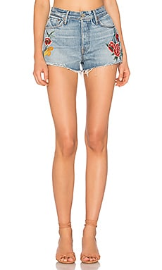 Cindy High-Rise Embroidered Short en Rising Sun