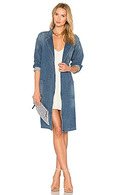 x REVOLVE Brigitte Car Coat in Spill The Wine