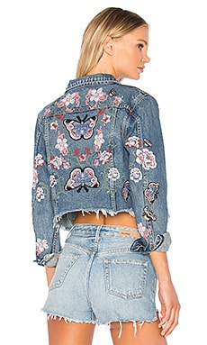 x REVOLVE Cara Cropped Trucker Jacket