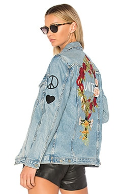 x REVOLVE Daria Oversized Denim Trucker Jacket