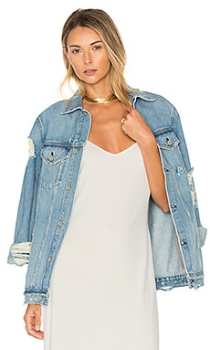 Daria Oversized Denim Trucker Jacket in You and I