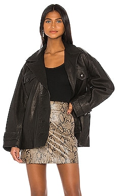 Moises Leather Jacket GRLFRND $878
