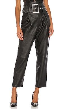 Beatrice High Waist Leather Pants GRLFRND $419