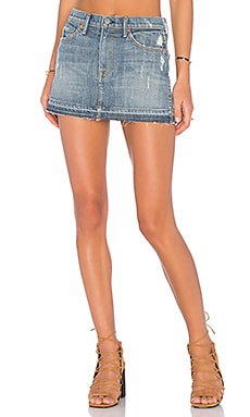 Claudia Denim Mini Skirt in Baby Come Back