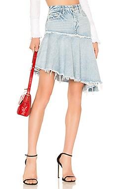 Monica Asymmetrical Ruffle Skirt GRLFRND $119