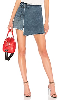 Ella High-Rise Wrap Skirt GRLFRND $76