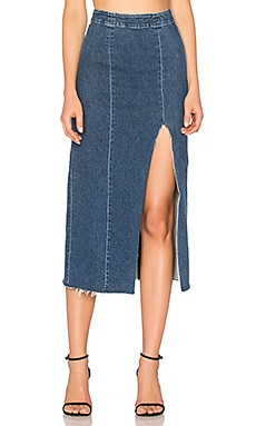 x REVOLVE Amber Long Skirt en Born To Run