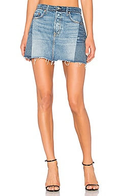 Claudia Denim Mini Skirt in Dancing Queen