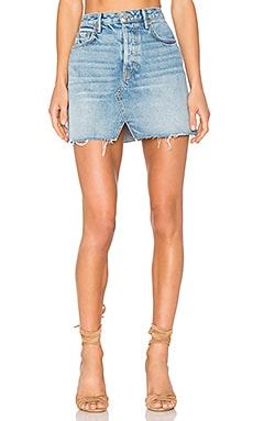 x REVOLVE Milla Denim Mini Skirt in Zappa
