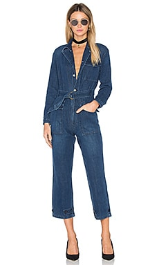 Abbey Denim Flight Suit in Atomic