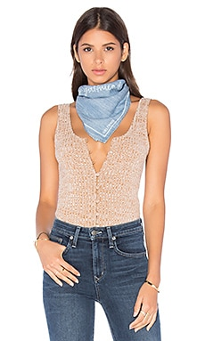 x REVOLVE Hey Girlfriend Bandana in Chambray