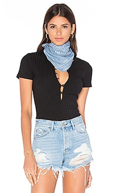 GRLFRND x REVOLVE Love You, Mean It Bandana in Chambray