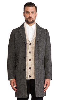 GANT Rugger The Herringbone Overcoat in Grey