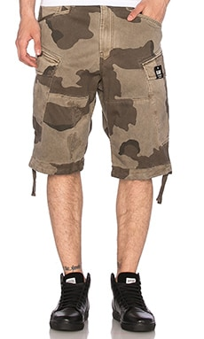 G-Star Rovic Loose Shorts in Khaki & Oak