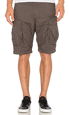 G-Star Rovic Zip Half Short in GS Grey