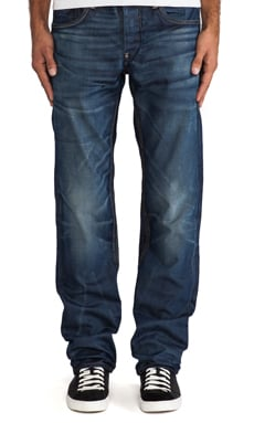 G-Star Attacc Low Straight Taland Denim in Vintage Medium Aged