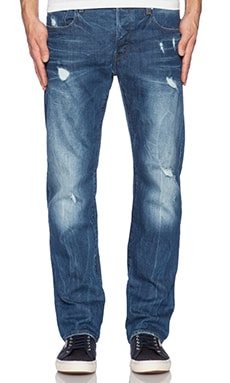 G-Star 3301 Straight Comfort Accel Denim in Light Aged Destroy