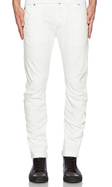 G-Star Arc 3D Slim Comfort Inza White Denim in 3D Aged