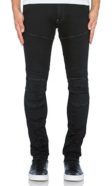 G-Star 5620 3D Super Slim Slander Black Denim in Dark Aged