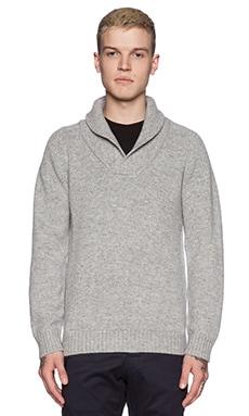 G-Star Gammit Shawl Collar Sweater in Grey Heather