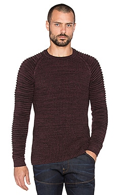 G-Star Avisar Tone Knit in Dark Fig & Black