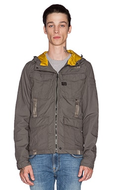 G-Star Recolite Hooded Overshirt in Raw Grey